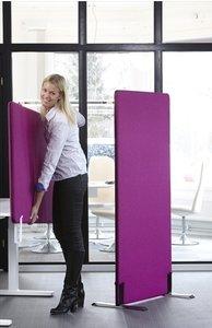 akoestisch scherm werkplekken alle accessoires bij je zit-sta bureau koop je online bij Worktrainer.nl