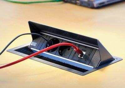 Bachmann Coni Inbouwstekkerblok  | accessoires voor je werkplek bezoek Worktrainer.nl