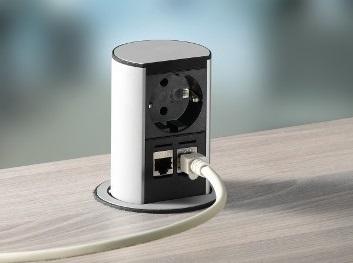 Elevator inbouwunit stroom bureau   accessoires voor je werkplek bezoek Worktrainer.nl