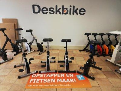 vloersticker deskbike | kies voor een gezonde werkplek bezoek Worktrainer.nl